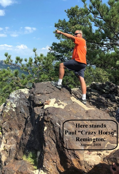 """Staff Photo Gallery Paul, """"Crazy Horse"""" Remington poses for new monument, August, 2018."""